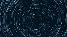 Lapso de tiempo estrellado del cielo almacen de video