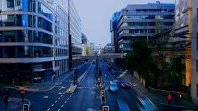 Lapso de tiempo Horizonte de Londres Tráfico en la carretera principal almacen de video