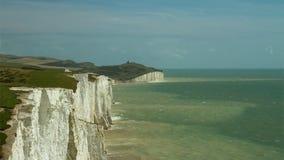 lapso de tiempo 4K, costa de Sussex, Inglaterra, Reino Unido almacen de video