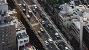 Lapso de tiempo de la autopista metropolitana no Línea y ciudad, Tokio, Japón de 3 Shibuya metrajes