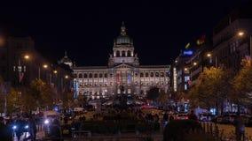 Lapso de tiempo de la calle en Praga almacen de video