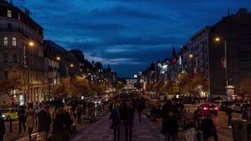 Lapso de tiempo de la calle en Praga almacen de metraje de vídeo