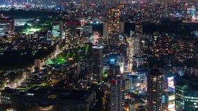 Lapso de tiempo de la ciudad en la noche, Jap?n de Tokio almacen de metraje de vídeo