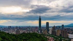 Lapso de tiempo de la ciudad en Taipei, Taiwán metrajes
