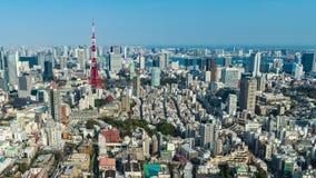 Lapso de tiempo de la ciudad de Tokio, Jap?n almacen de metraje de vídeo