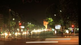 Lapso de tiempo de la diapositiva de la tarde de Arc de Triomphe almacen de metraje de vídeo