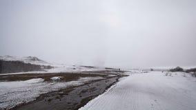 Lapso de tiempo de la erupción del géiser de Strokkur, Islandia, almacen de metraje de vídeo