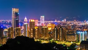 Lapso de tiempo de la noche de la ciudad en Taipei, Taiwán metrajes