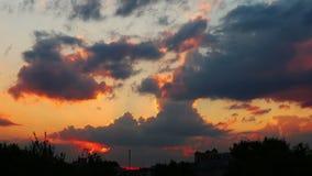 Lapso de tiempo de la puesta del sol 4k almacen de video