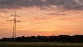 Lapso de tiempo de la puesta del sol de la zona rural metrajes