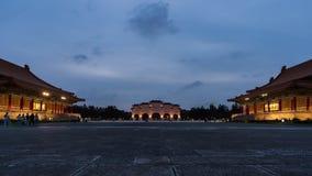 Lapso de tiempo de Liberty Square de Chiang Kai-Shek Memorial Hall en Taipei, Taiwán metrajes
