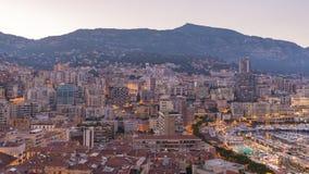 Lapso de tiempo de Monte Carlo Monaco almacen de metraje de vídeo