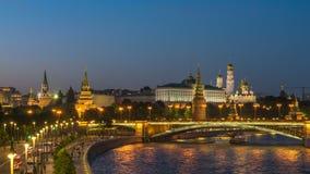 Lapso de tiempo de Moscú Rusia almacen de metraje de vídeo
