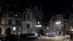Lapso de tiempo Noche Londres El edificio hermoso, histórico almacen de metraje de vídeo