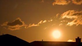 Lapso de tiempo de oro de la puesta del sol