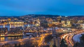 Lapso de tiempo de Oslo Noruega