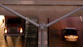 Lapso de tiempo Pan Up de la circulación densa en Los Ángeles céntrico almacen de metraje de vídeo