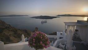 Lapso de tiempo Santorini almacen de video