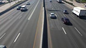 Lapso de tiempo sobre la autopista 25 en Denver almacen de video