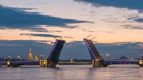 Lapso de tiempo de St Petersburg Rusia almacen de video