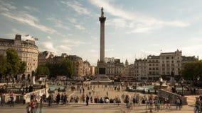 Lapso de tiempo de Trafalgar Square en Londres, Reino Unido metrajes