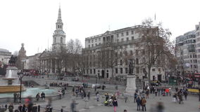 Lapso de tiempo Trafalgar Square, y edificios históricos almacen de video