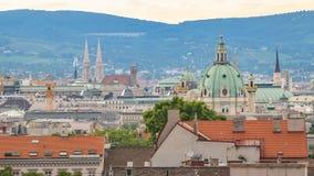 Lapso de tiempo de Viena Austria almacen de metraje de vídeo