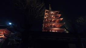 Lapso híper en el templo de Japón almacen de metraje de vídeo