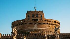 Lapso híper hacia el castillo de Ángel sant, Roma metrajes