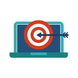 Laptoop and media icon design. Blog concept. Vector graphic Royalty Free Stock Image