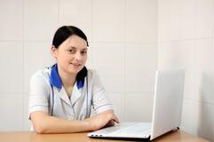 laptopów doktorscy potomstwa Zdjęcie Royalty Free