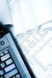 laptopów domowi klawiaturowi plany Zdjęcia Stock