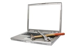 laptopów narzędzia Zdjęcia Royalty Free