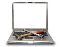 laptopów narzędzia Fotografia Stock