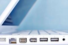 Laptopów porty Zdjęcie Royalty Free