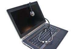 Laptopów zdrowie Obrazy Royalty Free