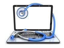 Laptop łamający i symbol naprawa royalty ilustracja