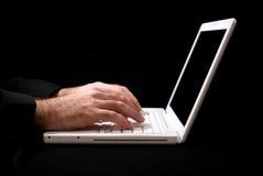 laptop świeciło Obraz Stock