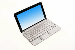 Laptop. A grey laptop isolated on background Royalty Free Stock Image