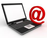 @ & laptop Royalty Free Stock Image