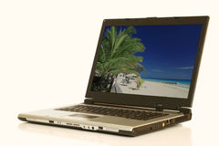 Laptop. A laptop computer with a clipping path Royalty Free Stock Photos
