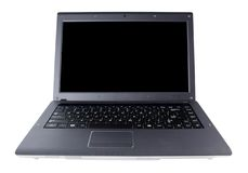 Laptop. Large laptop computer and a small netbook Royalty Free Stock Images