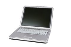 Laptop. Isolated on a white background stock photo