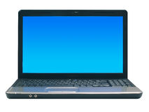 Laptop. On plain cut out background stock photography