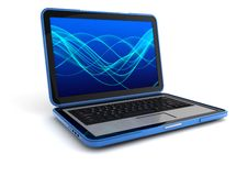 Laptop. 3d computer generated of a laptop  isolated on white background Stock Images