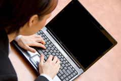 On the laptop Royalty Free Stock Photos