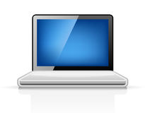 Laptop. Vector illustration of laptop on white background Stock Photography