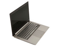 Laptop. Gray color laptop on white background Clipping Path