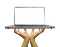 Laptop. Modern computer laptop on the white backgrounds Stock Photo