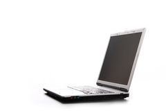 Laptop. Isolated laptop detail in a white background Royalty Free Stock Images